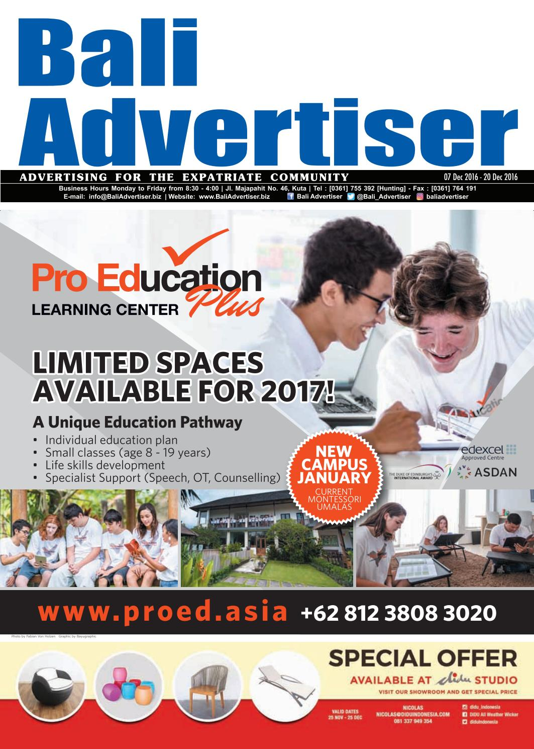 Ba 07 December 2016 By Bali Advertiser Issuu Damn I Love Indonesia Sign Sticker White Small Putih