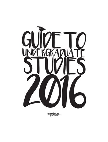 guide to undergraduate studies 2016 by c us plus magazine issuu Executive Sous Chef Resume page 1