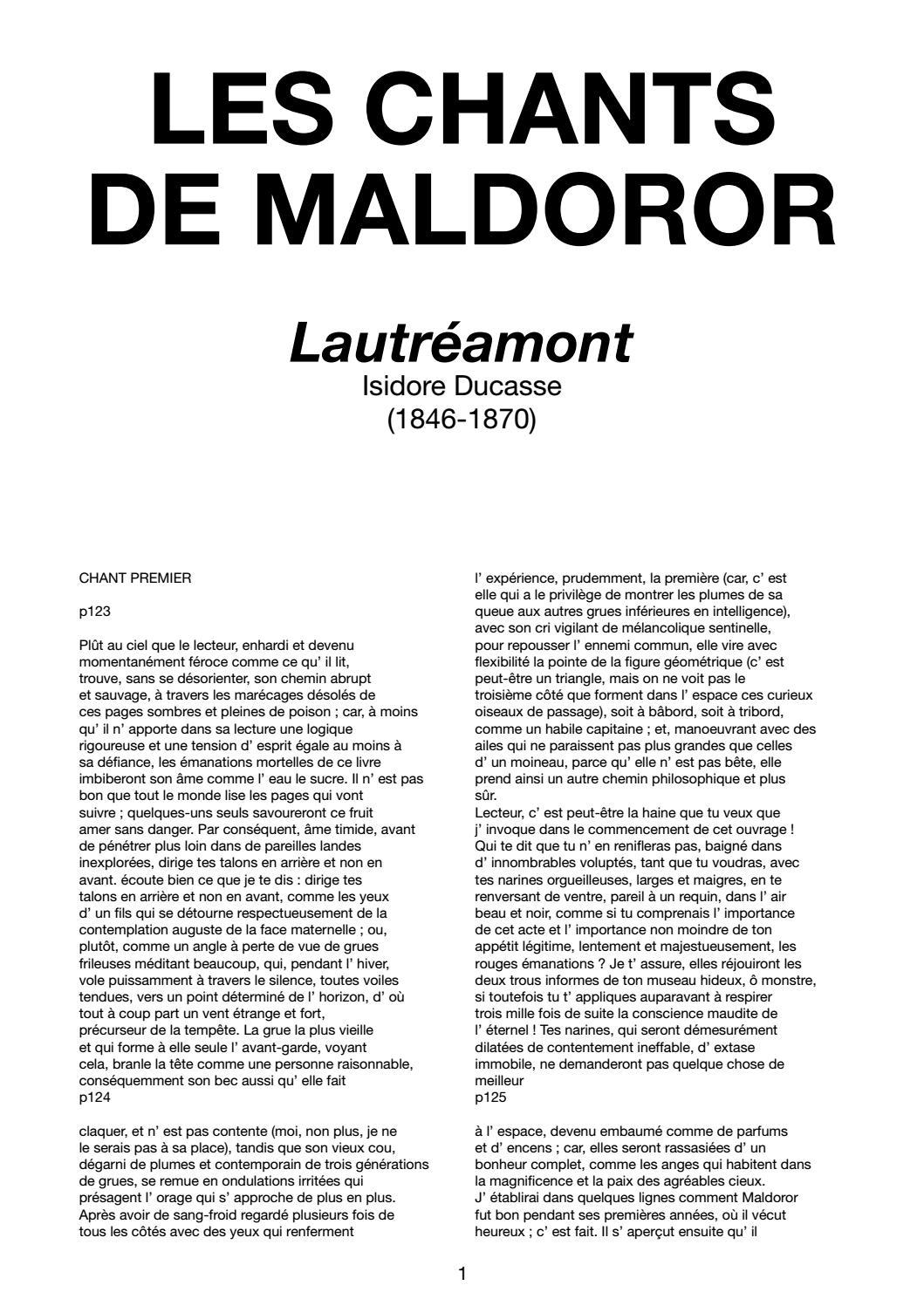 LES CHANTS DE MALDOROR Lautréamont par Isidore Ducasse by  casserdesbriques.com - issuu 70a7af699ef