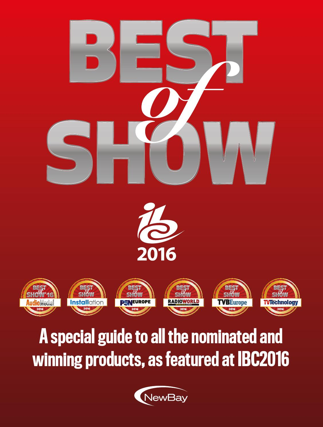 Best of show IBC 2016 digital edition by Future PLC - issuu