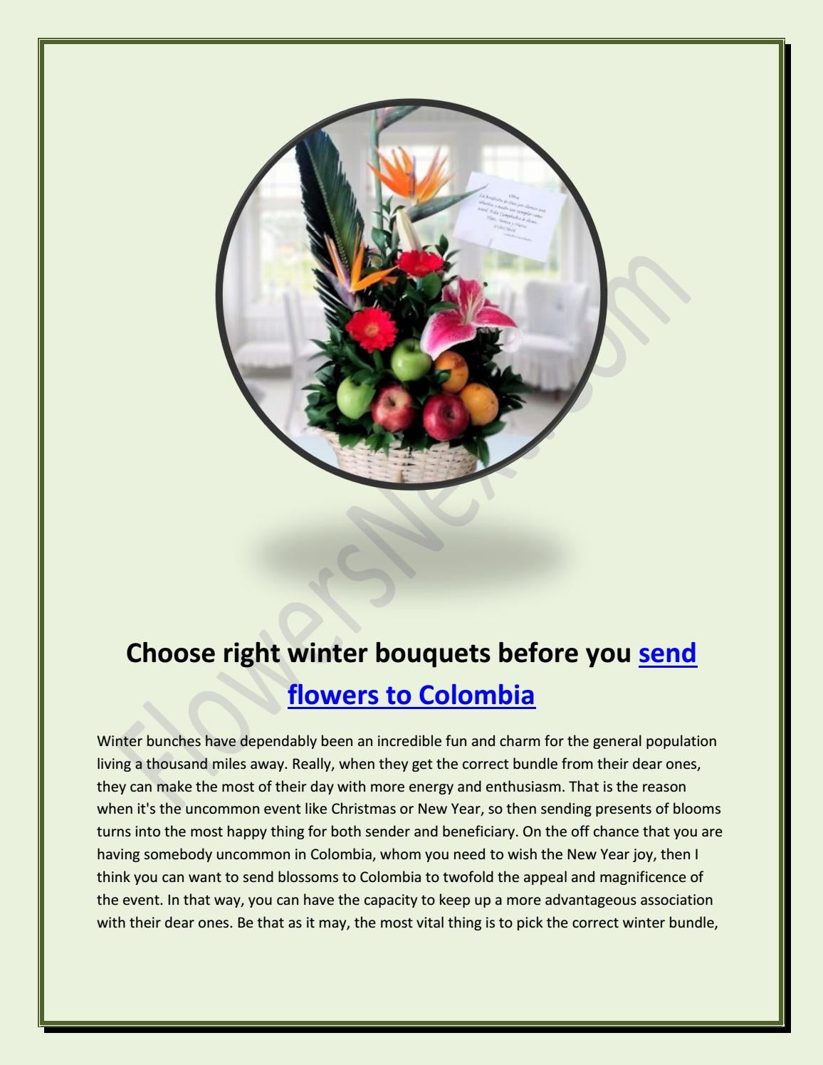 f5ab2c480777 Choose right winter bouquets before you send flowers to ColombiaChoose  right winter bouquets before