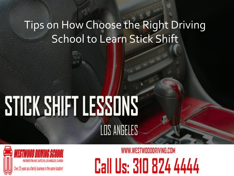 manual shift driving school
