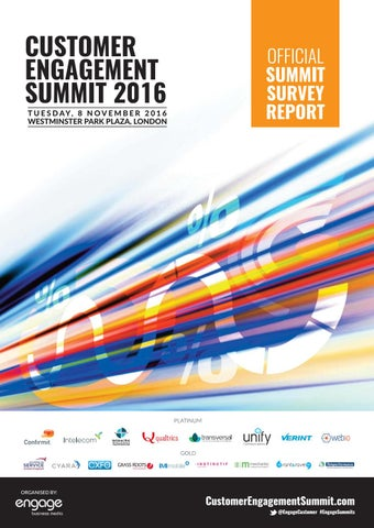 2016 Customer Engagement Summit Report By Engage Business
