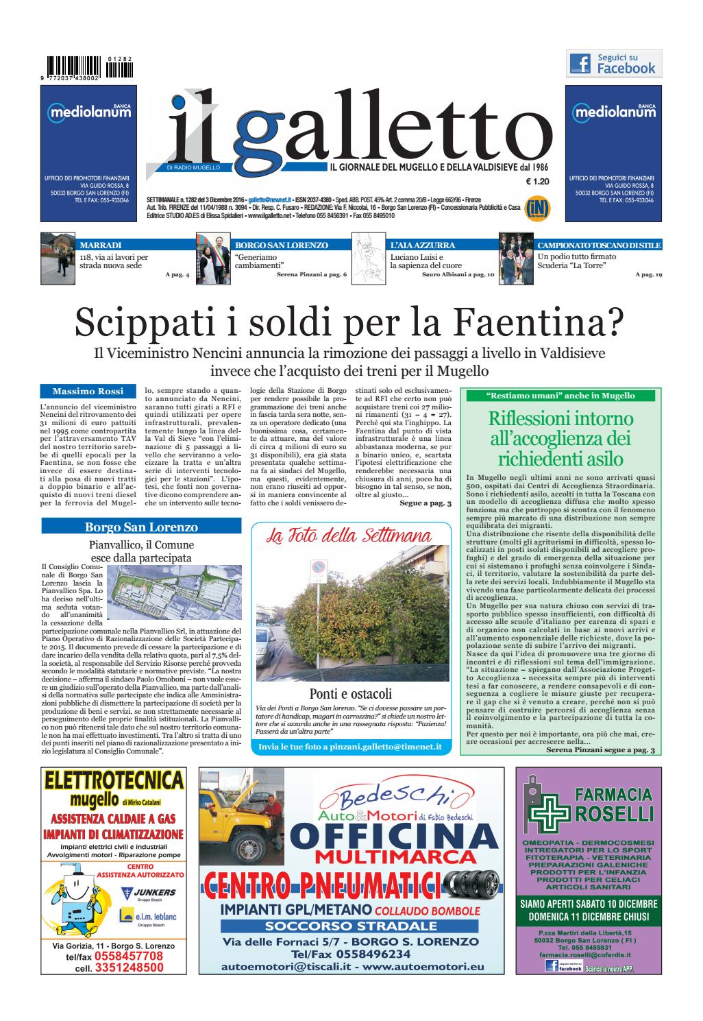 Galletto 1282 Del 3 Dicembre By Il Galletto Giornale Issuu