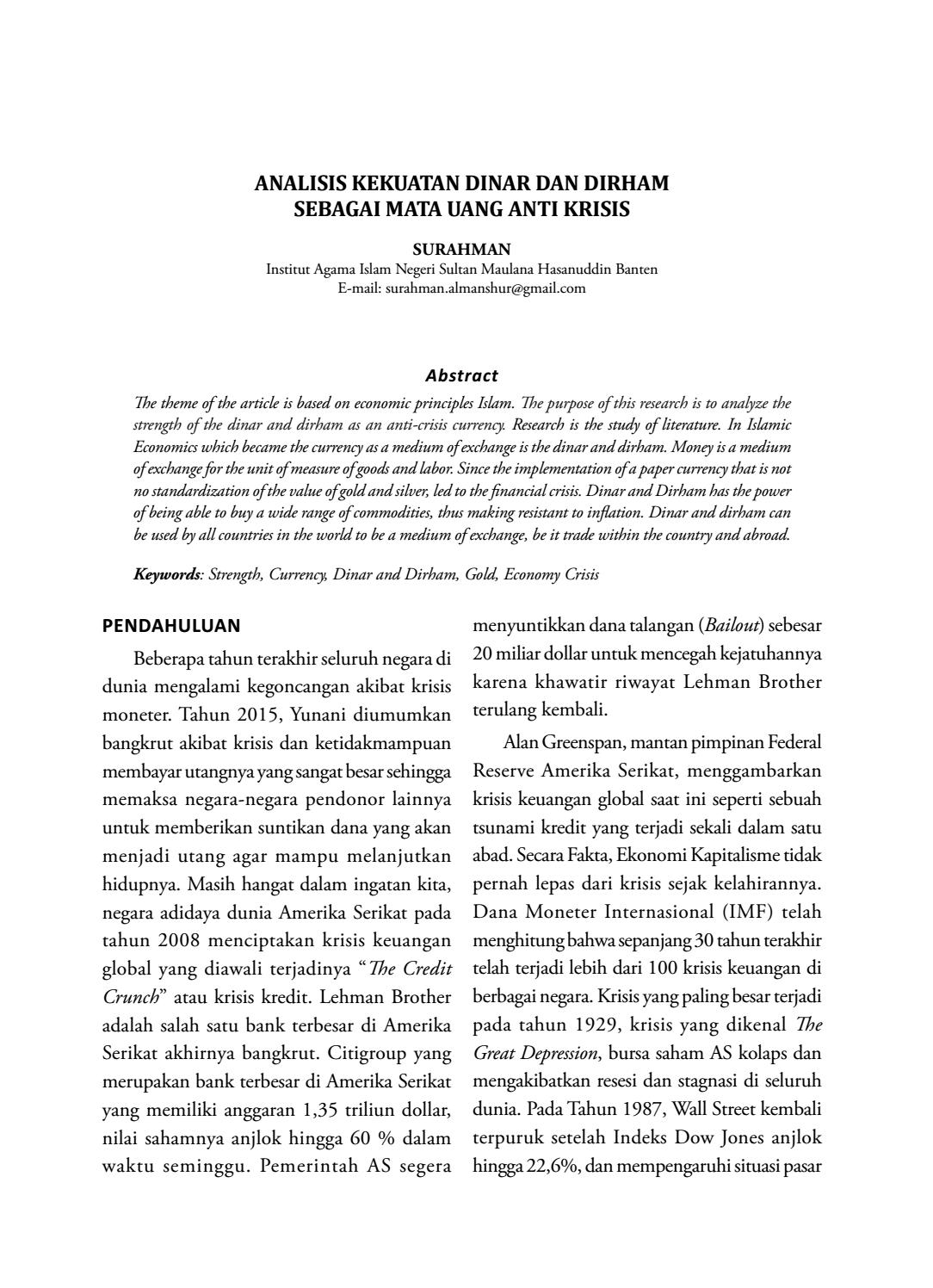 Review of business research articles
