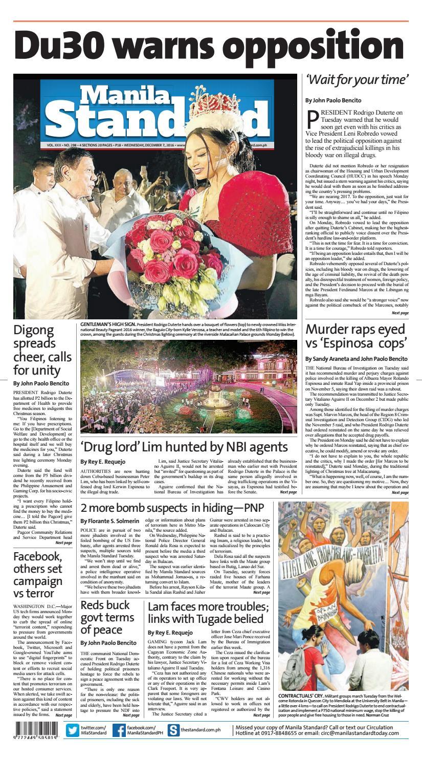 Manila standard december wednesday manila standard issuu