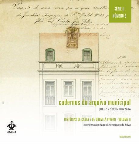 f1ca1427cc1 Cadernos do Arquivo Municipal n.º 6 by Câmara Municipal de Lisboa ...