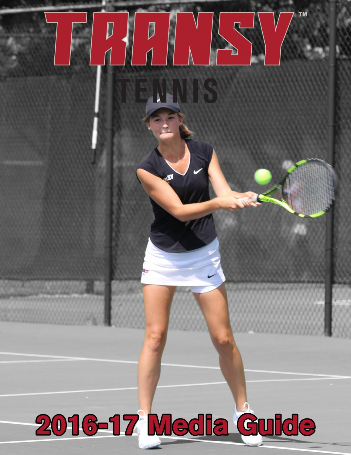 2016-17 Transylvania Women's Tennis Media Guide by Transy ...