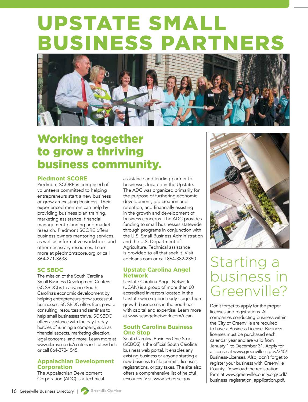 2016 Greenville Chamber Business Directory by SC BIZ News