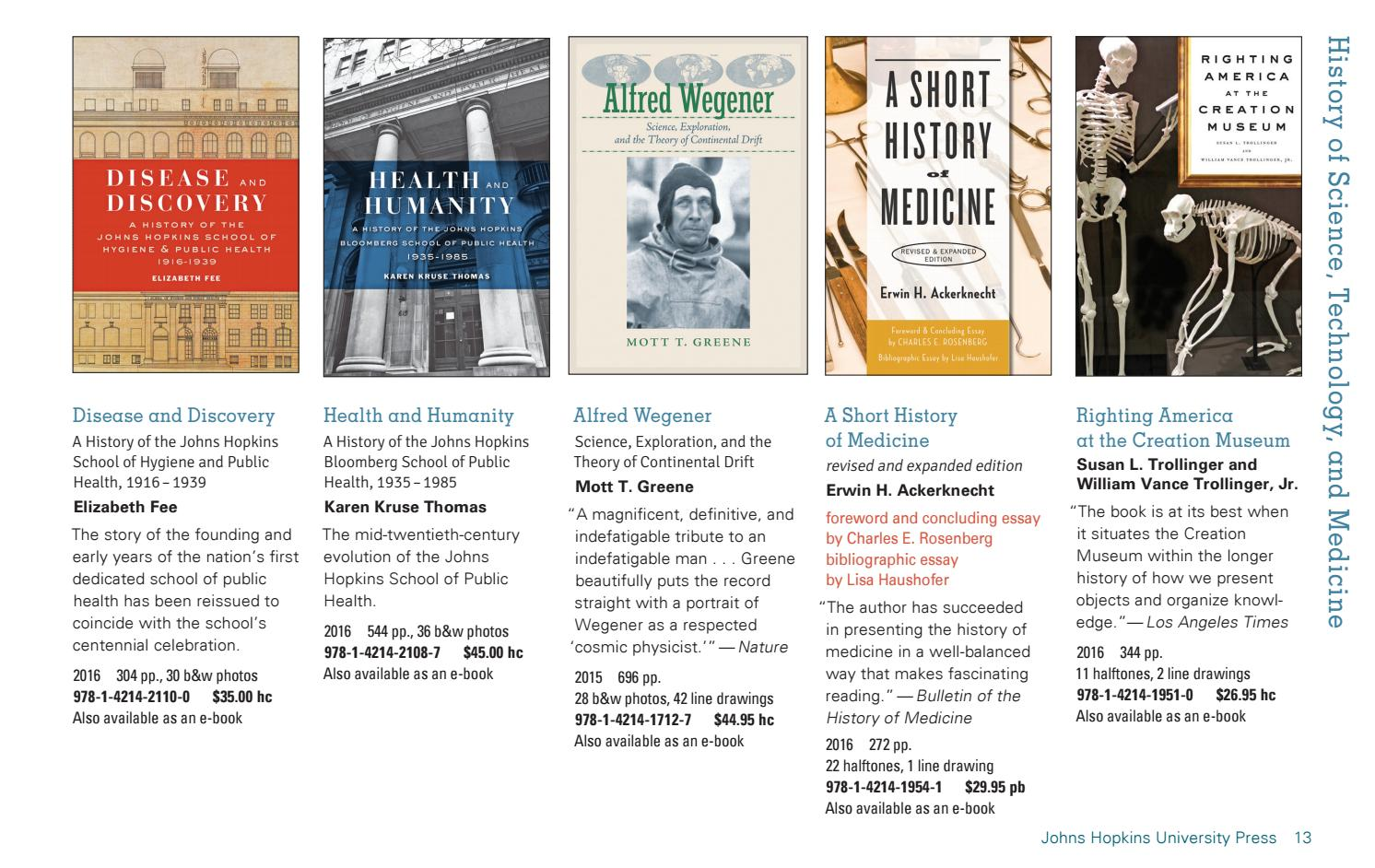 JHUP Books in History 2016 / 2017 by Susan Ventura - issuu