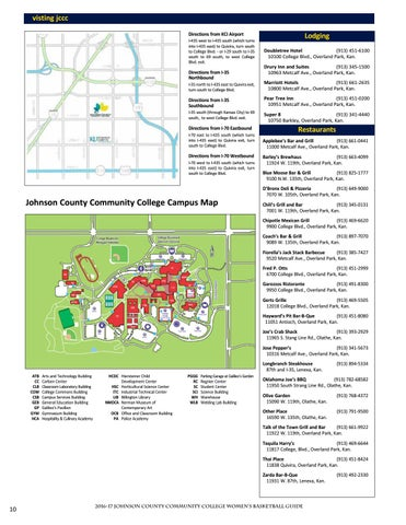 Johnson County Community College Campus Map.2016 17 Johnson County Cc Women S Basketball Guide By Chris Gray Issuu