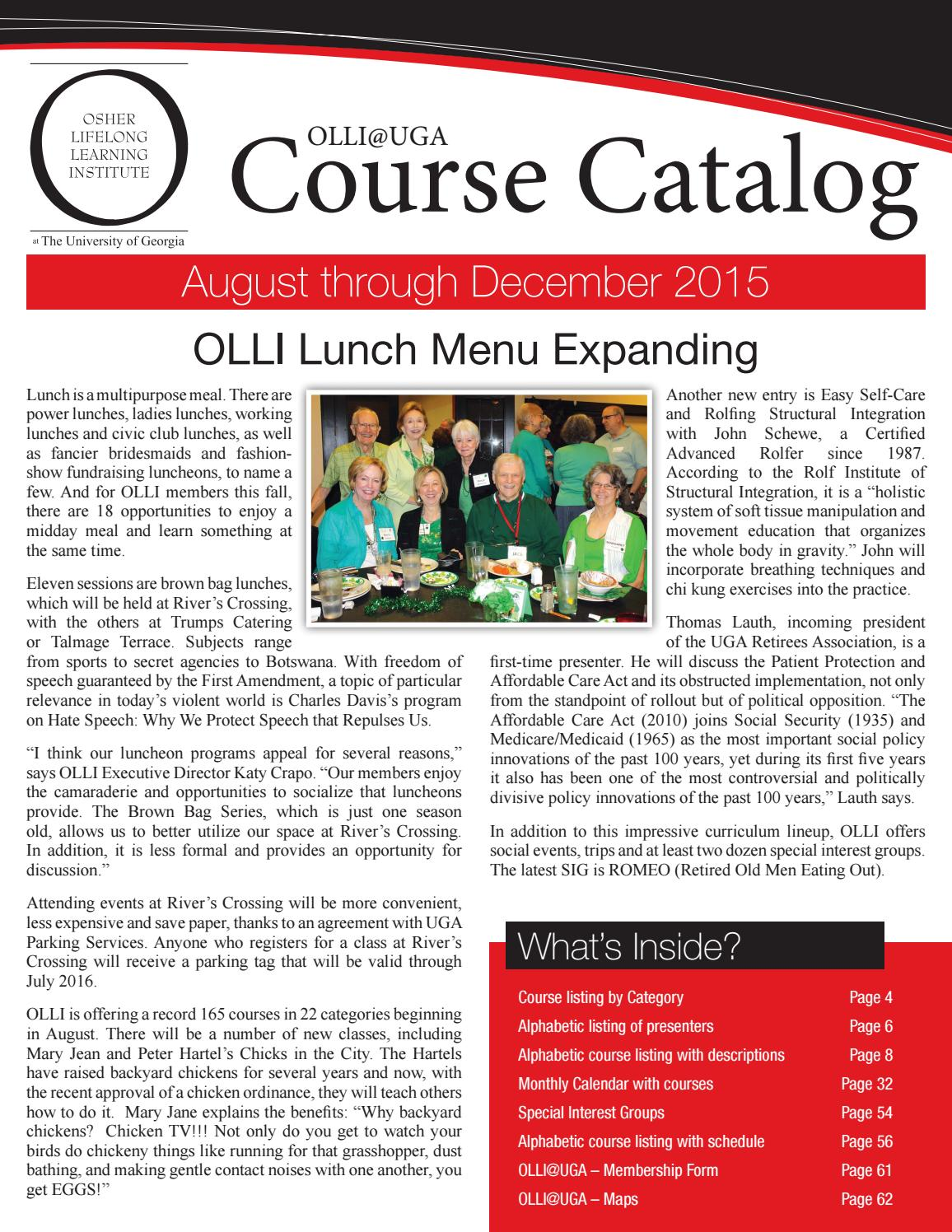 2015 course catalog august december 2015 by University of