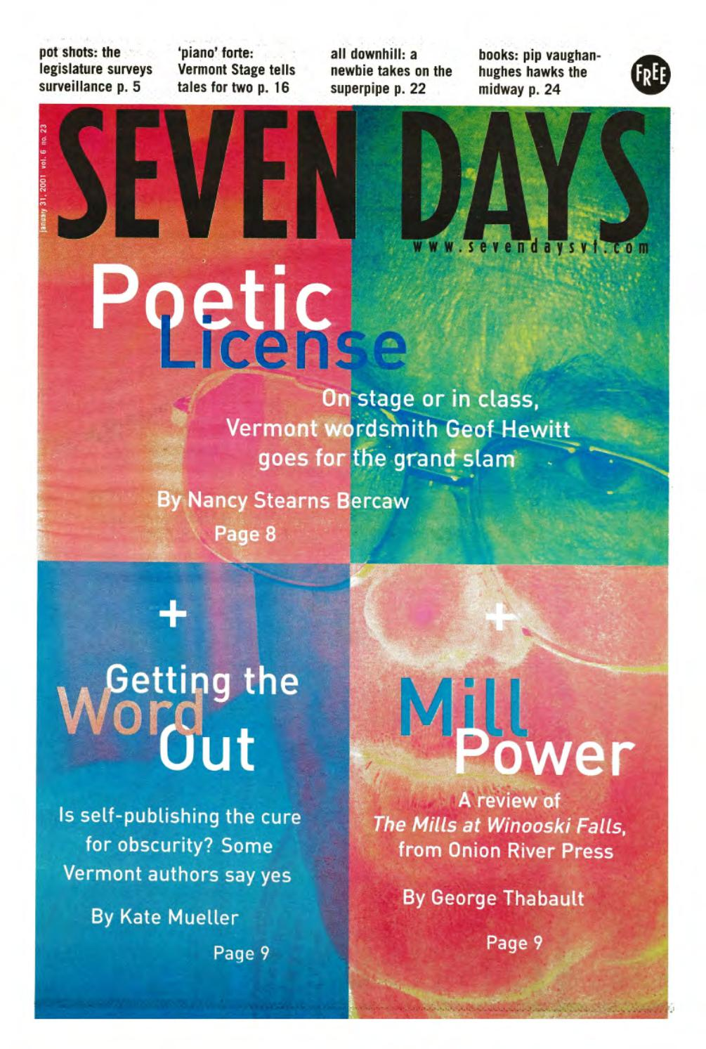 Seven Days, January 31, 2001 by Seven Days - issuu