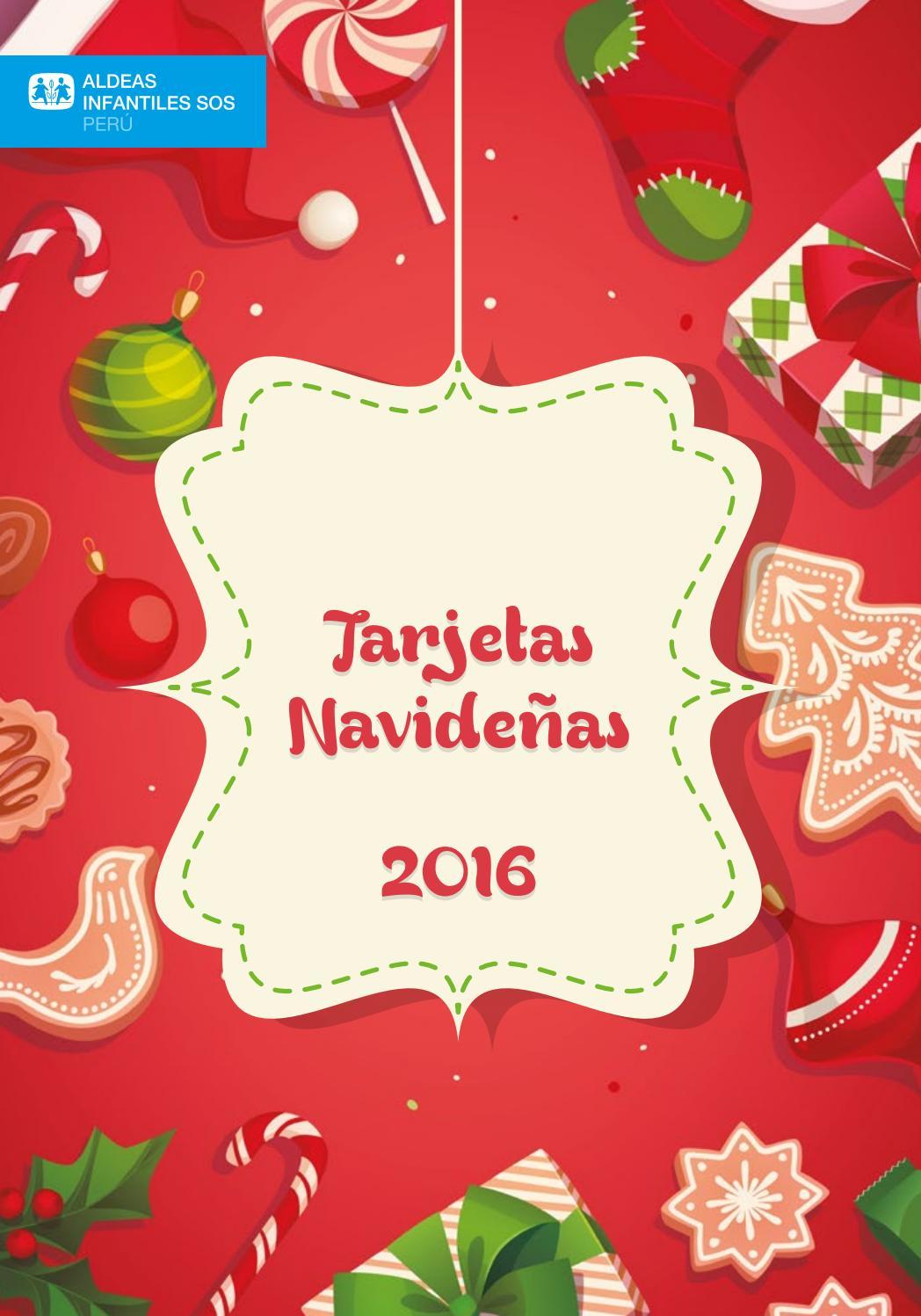 Catalogo tarjetas navide as by aldeas infantiles sos per - Postales navidenas creativas ...