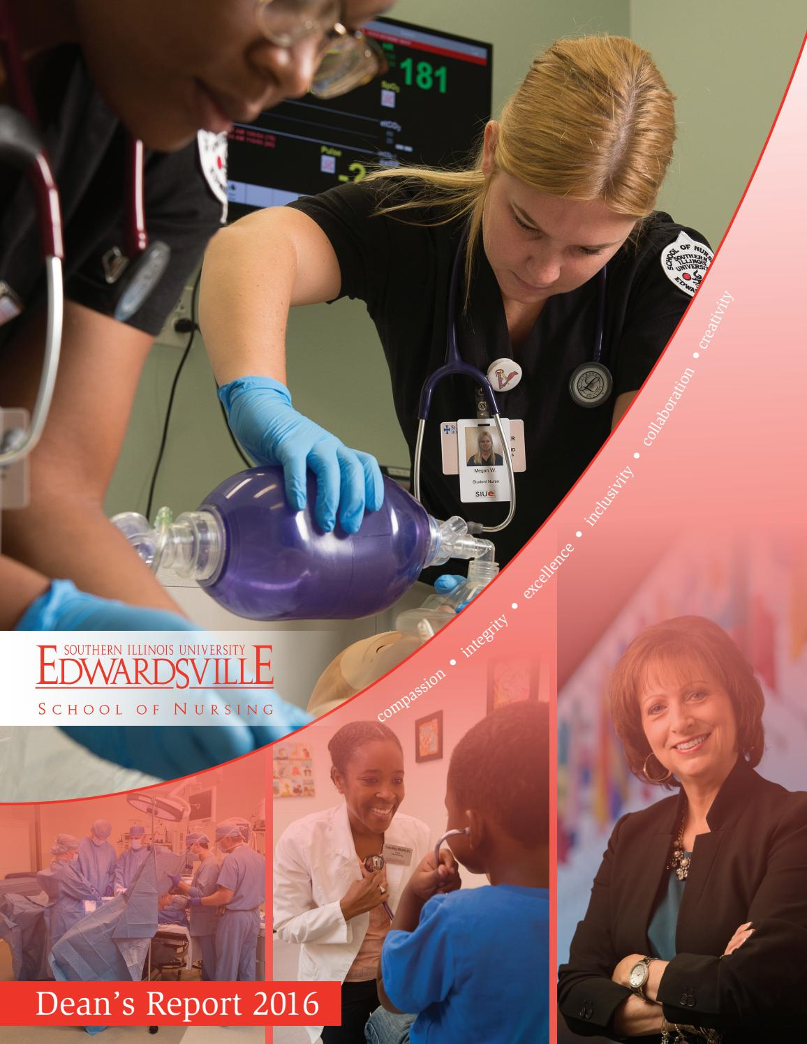 2016 SIUE School of Nursing Dean's Report by SIUE - issuu