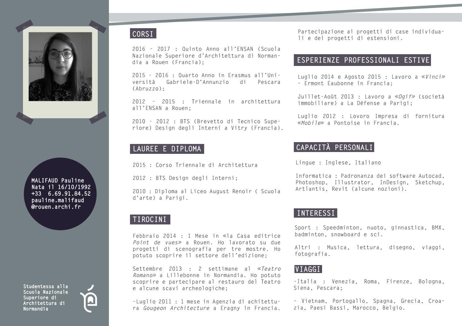 Design Degli Interni Roma cv - portfolio by pauline - issuu