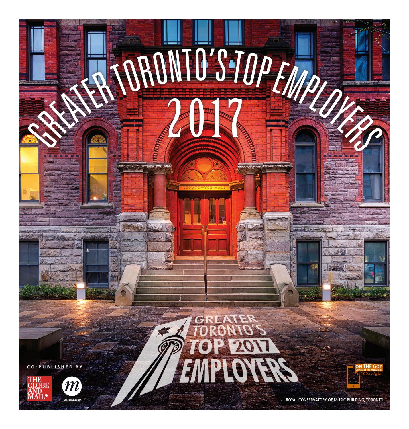 Greater Toronto's Top Employers (2017) by Canada's Top 100