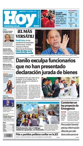 d1adeaee8f4 Edición impreso miércoles 07 de diciembre, 2016 by Periodico Hoy - issuu