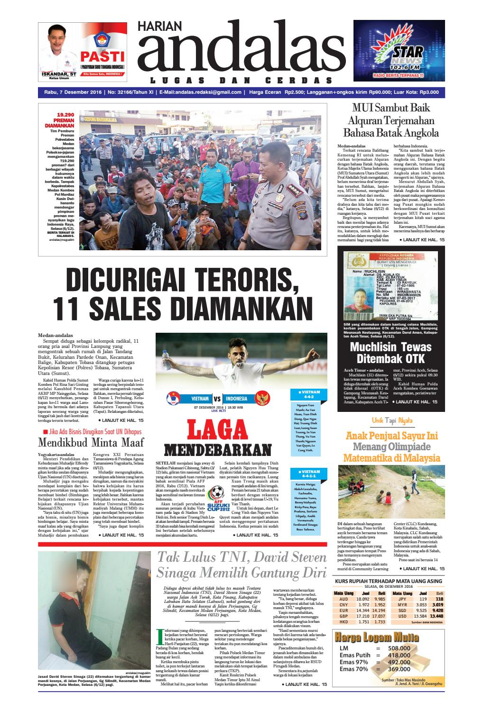 Epaper andalas edisi 7 desember 2016 by media andalas - issuu 7b790d33ef