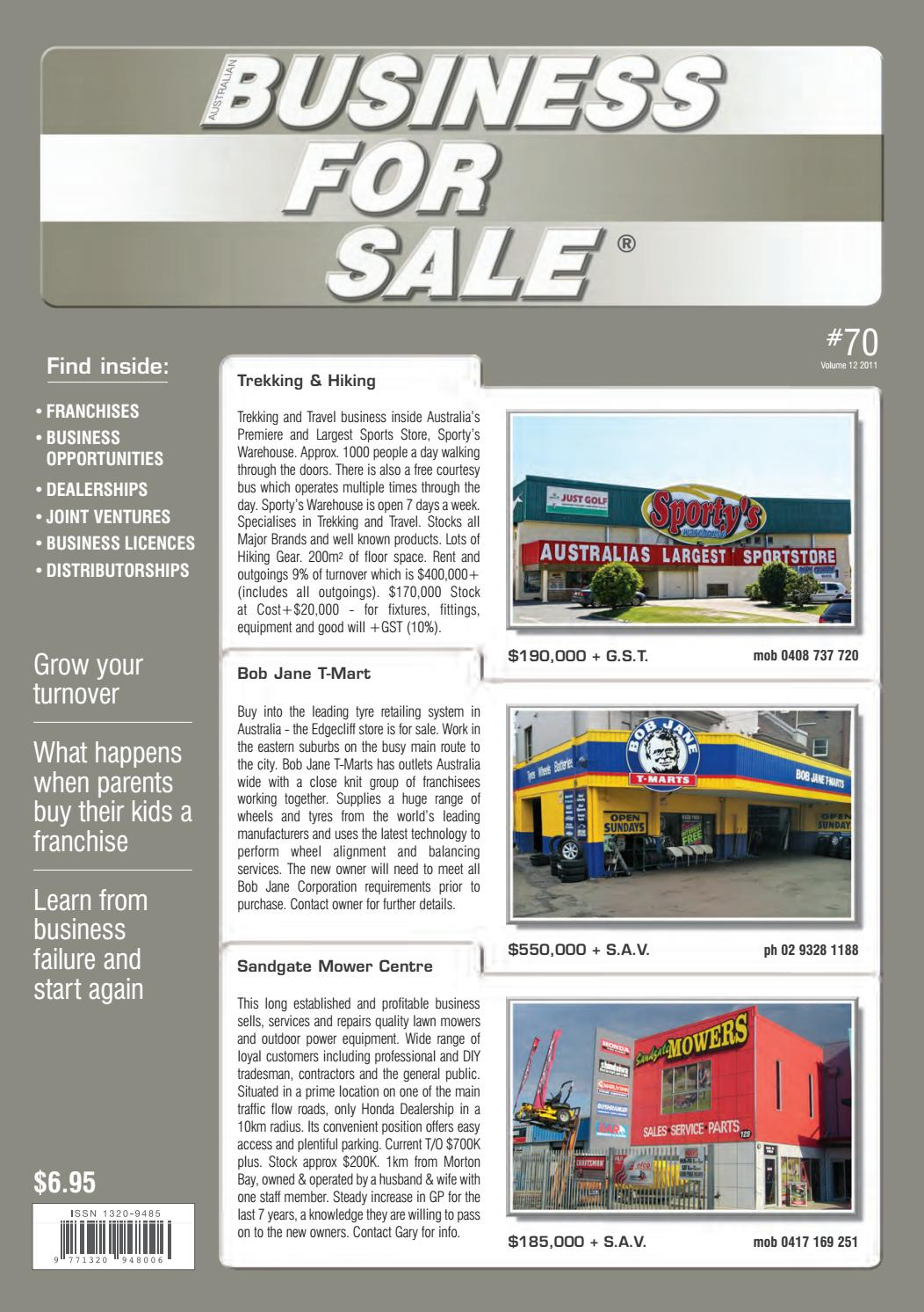 3dae29ff3ea Issue 70 - Australian Business For Sale by Australian Business For ...