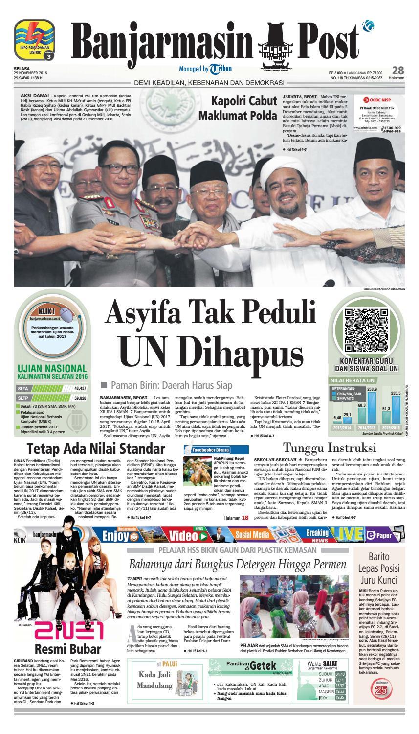 Bp20161129 By Banjarmasin Post Issuu Produk Umkm Bumn Lapis Surabaya Panjang Hj Enong
