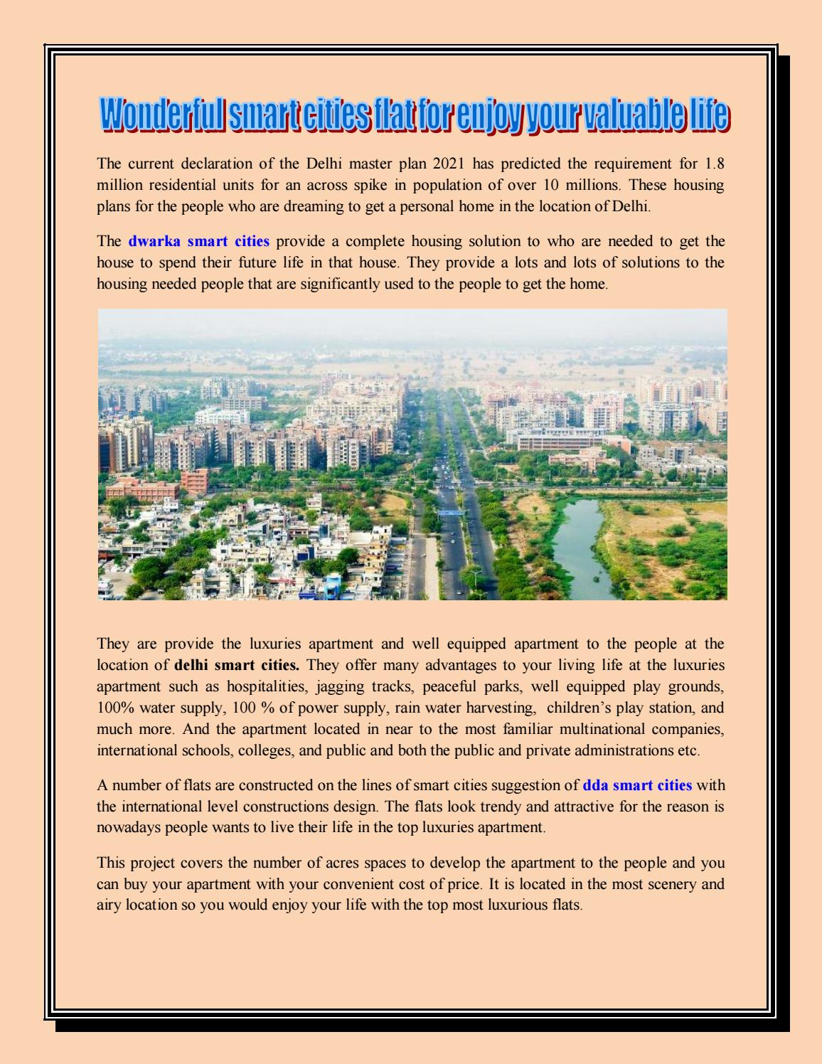 ef6cb332001b Wonderful smart cities flat for enjoy your valuable life by Raju ...