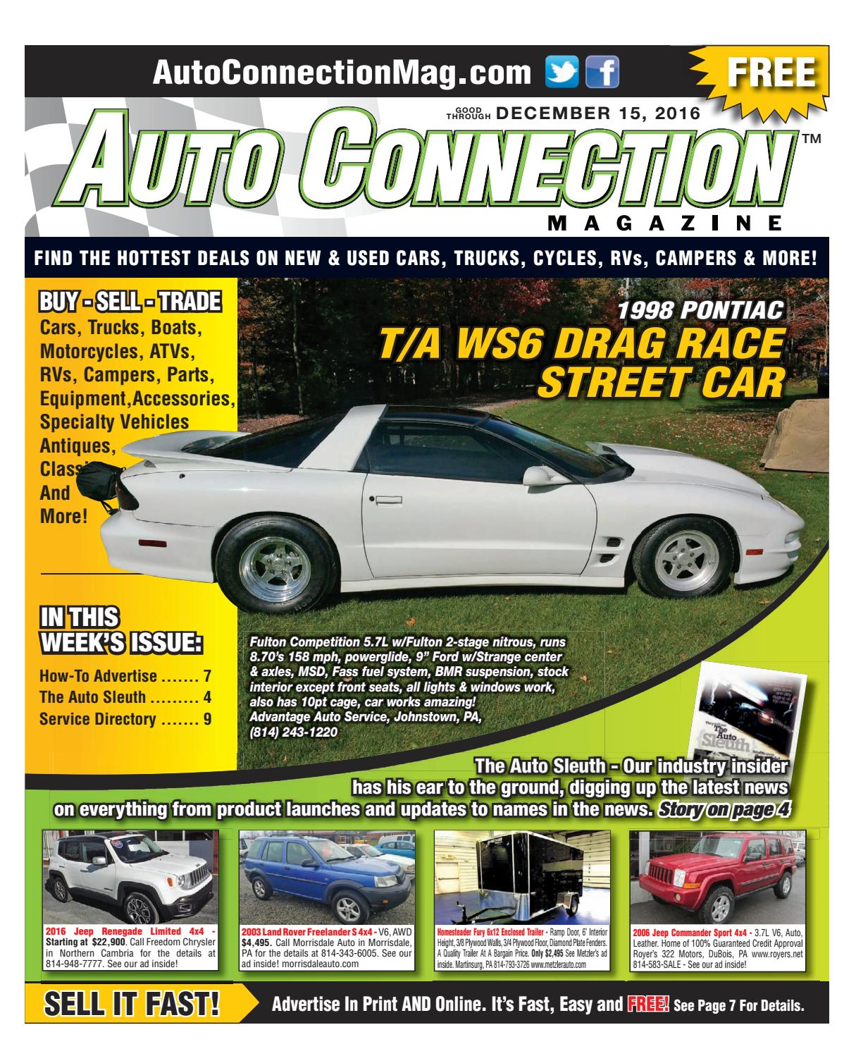 12-15-16 Auto Connection Magazine By Auto Connection