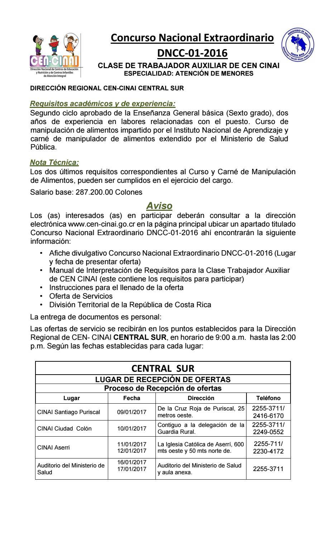 Afiche concurso tacc 2016 central sur by utic cen - Carne manipulacion de alimentos ...
