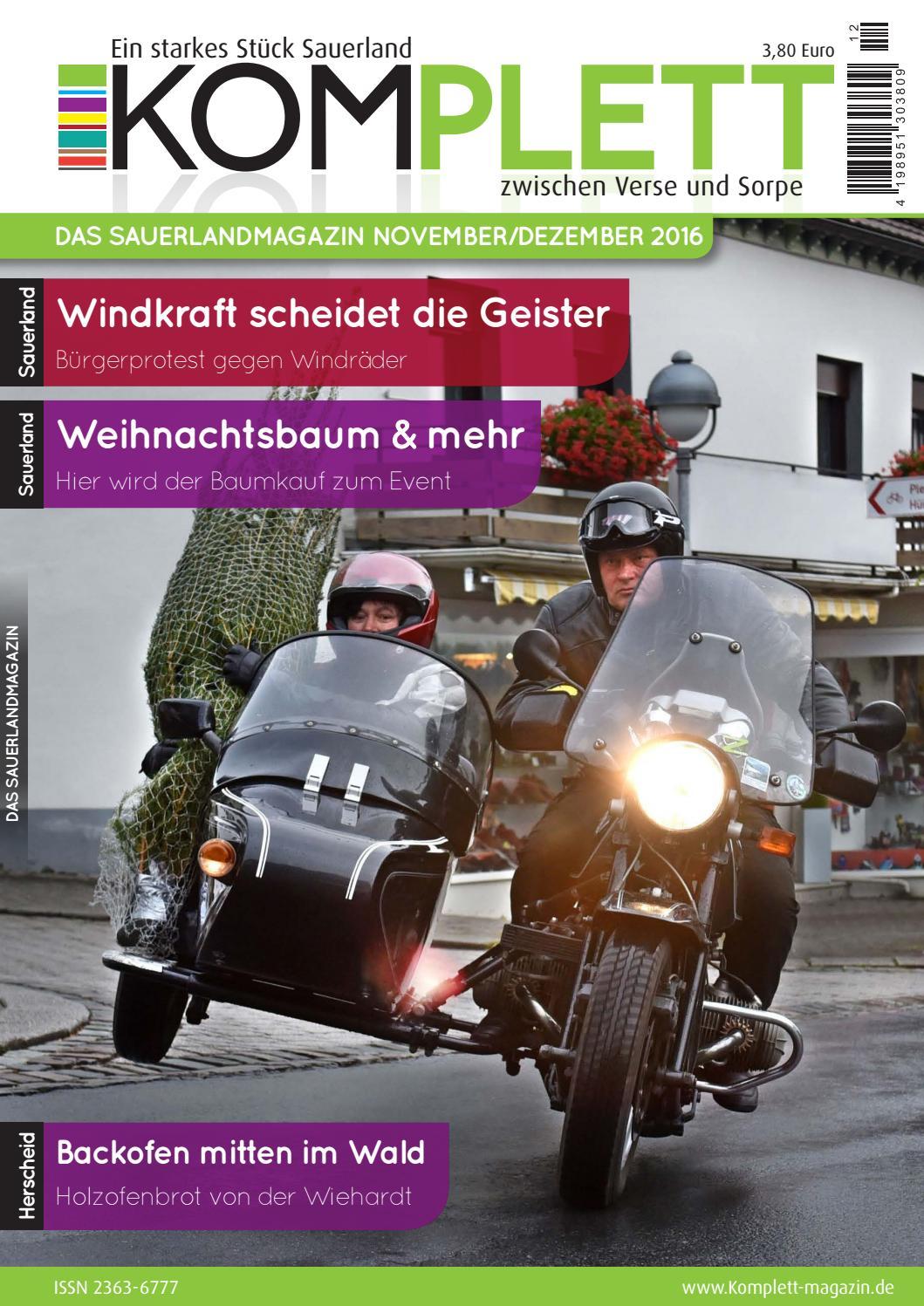 Komplett Das Sauerlandmagazin - die komplette Ausgabe November ...