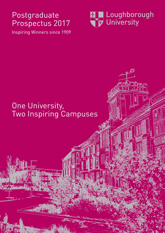 postgraduate prospectus 2017 by loughborough university issuu