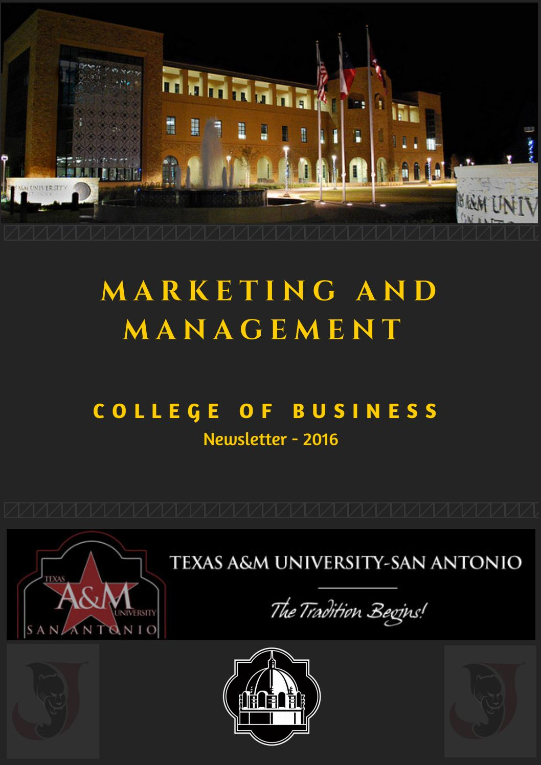 Marketing And Management Volume 1 Issue 3 By Tamu Sa Management