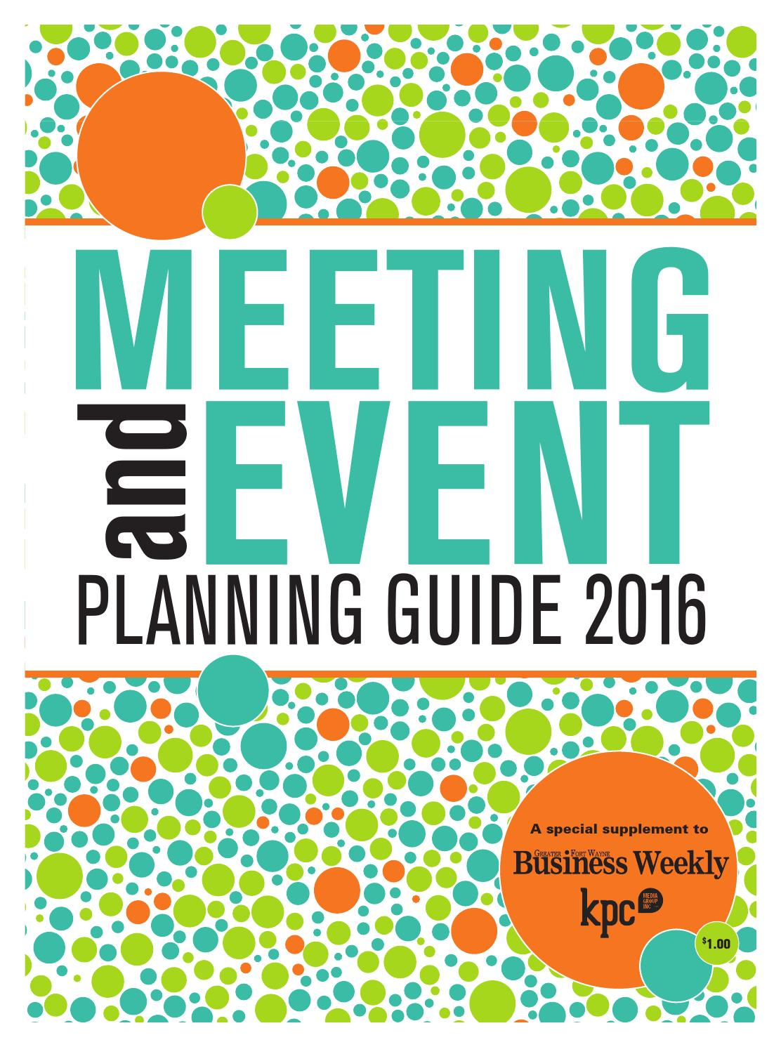 event planners guide - 4 - event planning checklist  this checklist is meant to be an optional guide to aid in planning your group event please feel free to add or delete items from the list as needed.