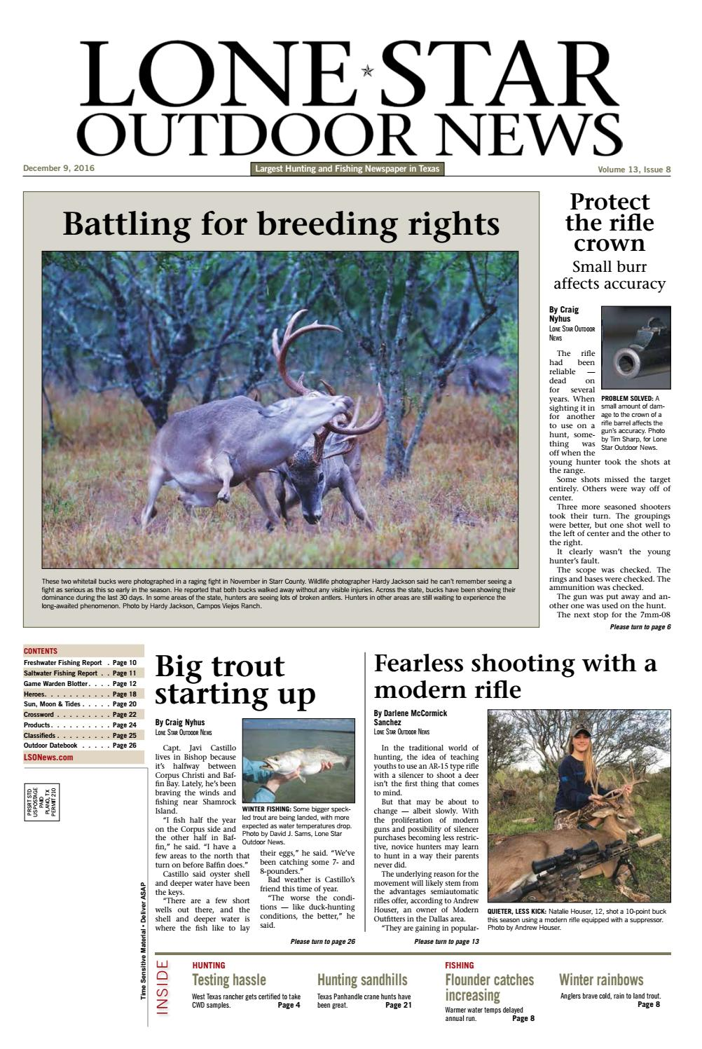 December 9, 2016 - Lone Star Outdoor News - Fishing & Hunting by ...