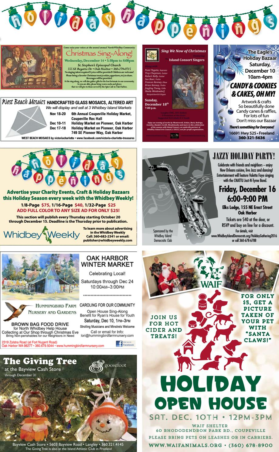 Whidbey Weekly, December 8, 2016 by WhidbeyWeekly.com - issuu
