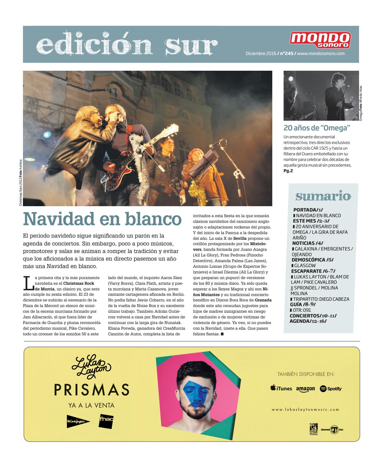 Mondosonoro Sur Diciembre 2016 by MONDOSONORO SUR - issuu