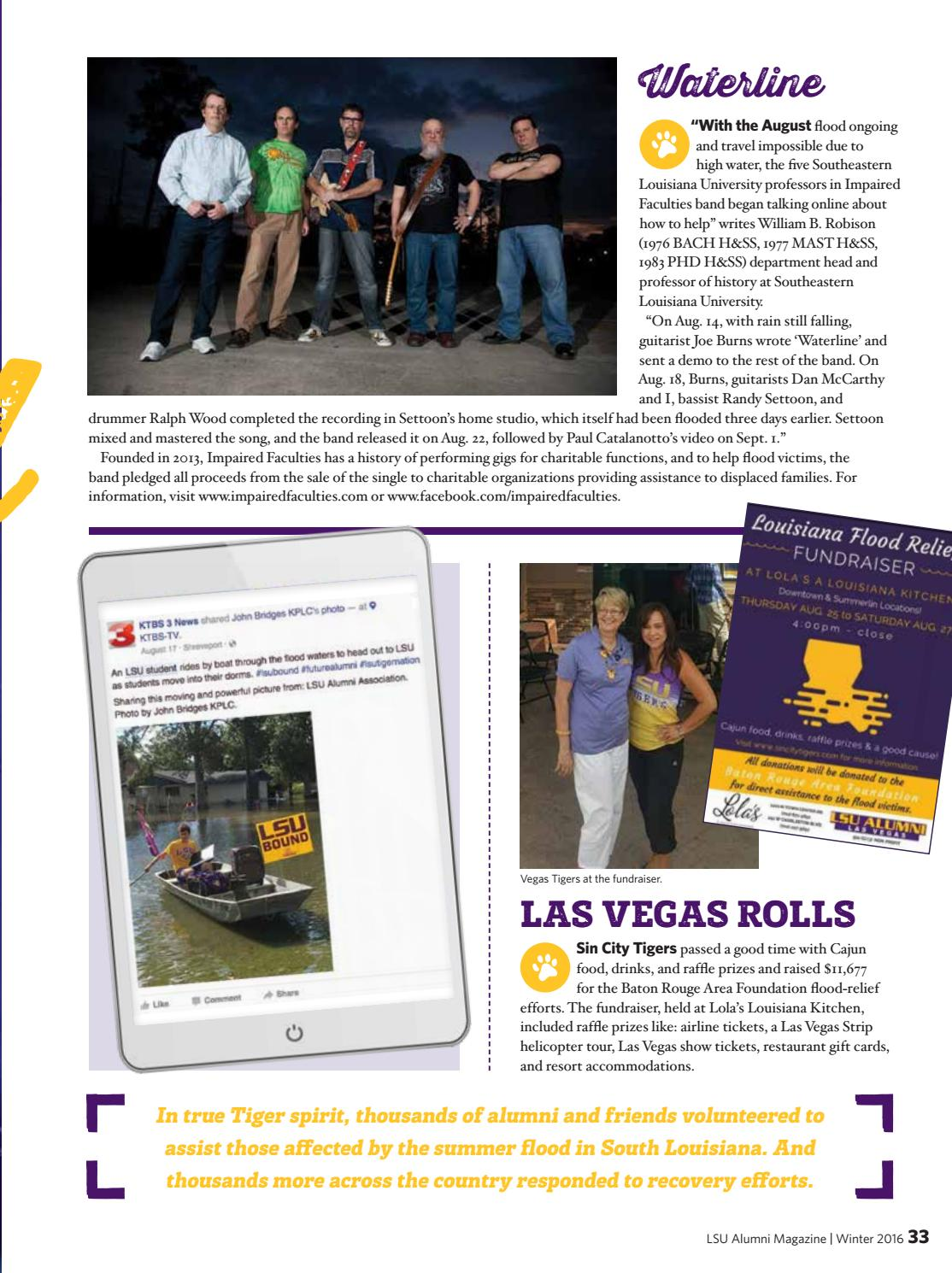 Winter 2016, Volume 92, Number 4 by LSU Alumni Association - issuu