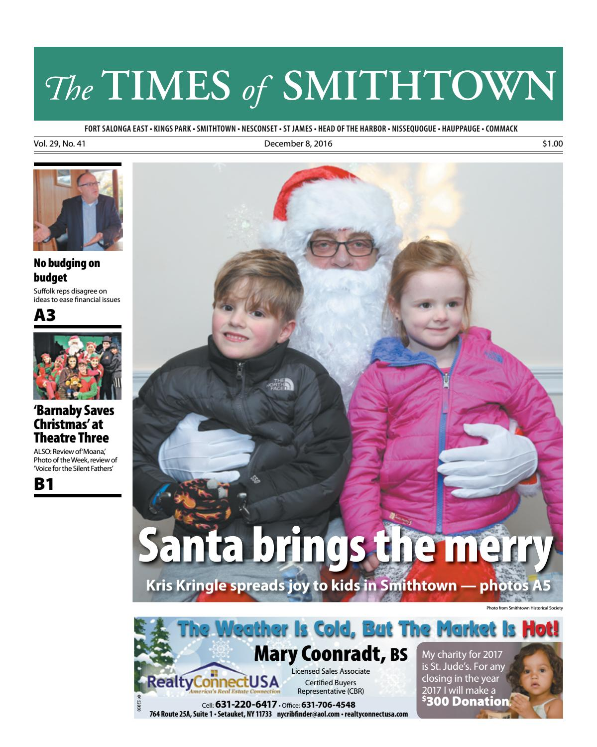 The Times of Smithtown - December 8, 2016 by TBR News Media - issuu