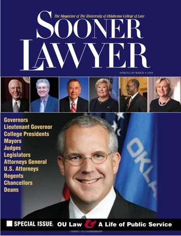 Sooner Lawyer: Spring-Summer 2008 by University of Oklahoma