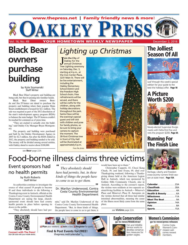 f1b1b0c2e82 Oakley Press 12.2.16 by Brentwood Press   Publishing - issuu