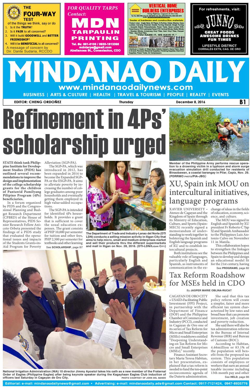 Mindanao Daily Set B (December 8, 2016) by Mindanao Daily