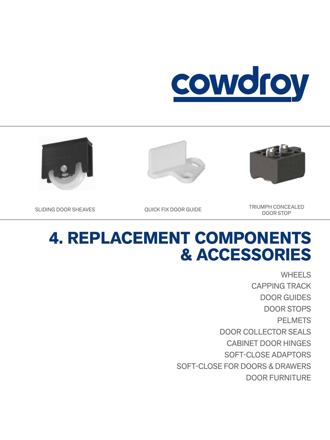 Cowdroy Catalogue Section 4 Replacement Components And Accessories