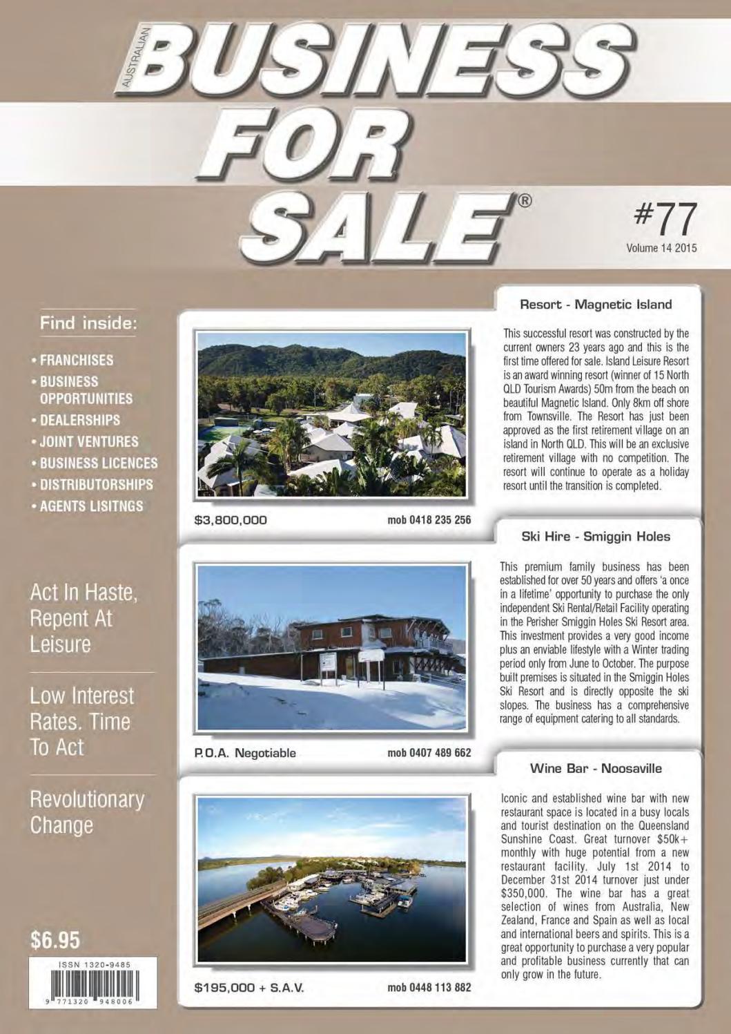 Issue 77 - Australian Business For Sale by Australian