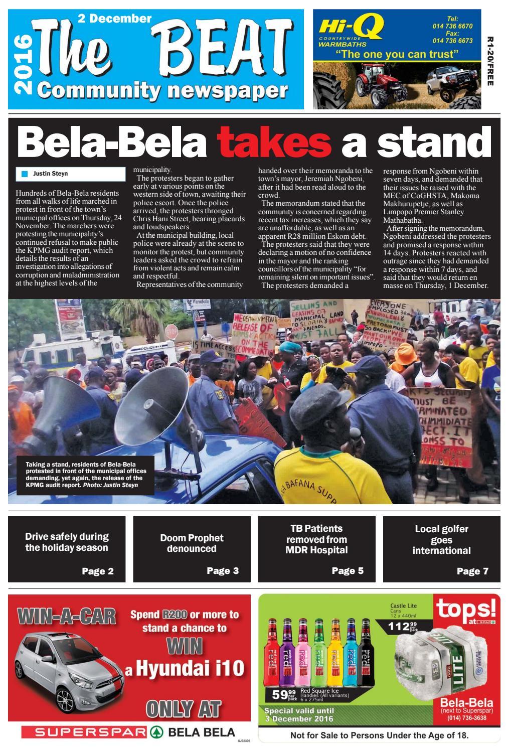 The Beat 2 December 2016 by Die Pos koerant/newspaper - issuu