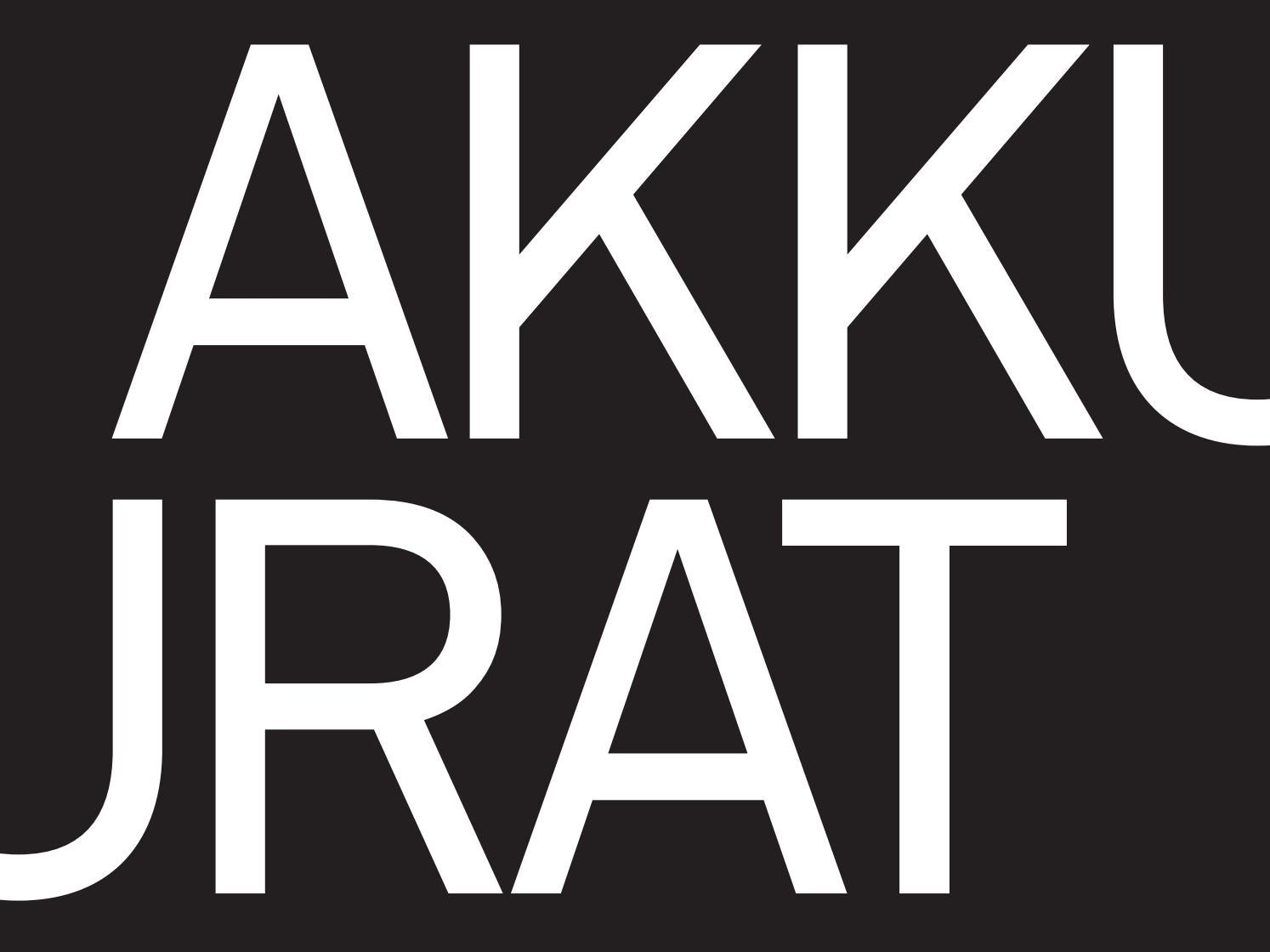 Akkurat—Digital Type Specimen by Jami Rubin - issuu