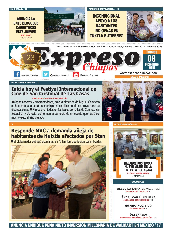Expreso chiapas 08:12:16 by expreso chiapas - issuu