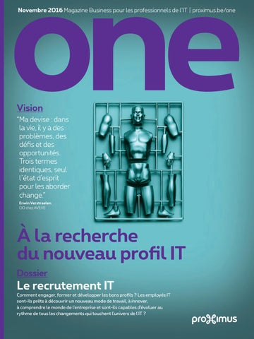 Novembre 2016 Magazine Business pour les professionnels de l IT   proximus .be one 1c58ff499457