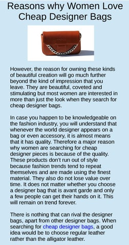 c3b72a6719 Page 1. Reasons why Women Love Cheap Designer Bags