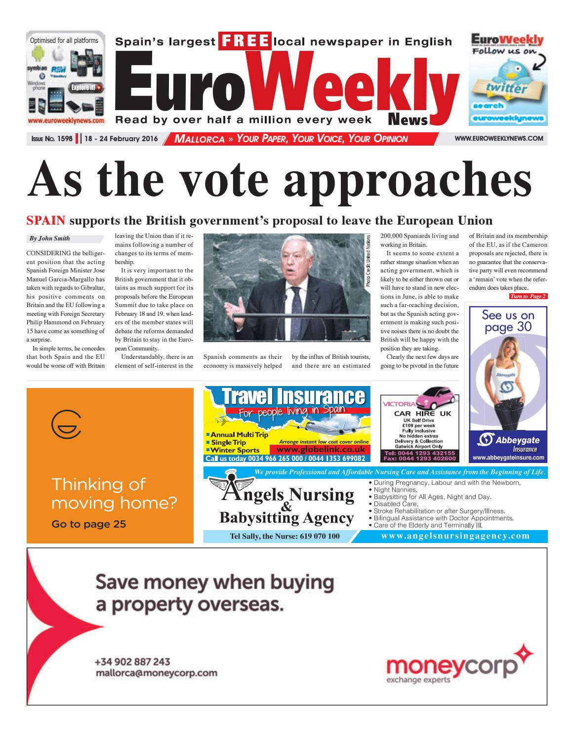 2c00ff68ec7f0 Euro Weekly News - Mallorca 18 - 24 February 2016 Issue 1598 by Euro Weekly  News Media S.A. - issuu