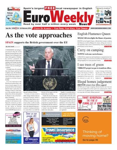 Euro Weekly News Costa De Almeria 18 24 February 2016 Issue 1598