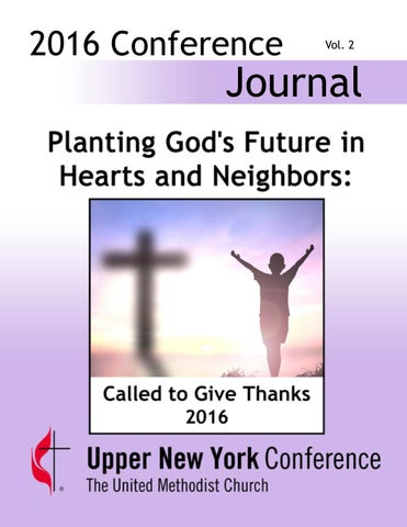 2016 Journal Vol Ii By Upper New York Conference Issuu